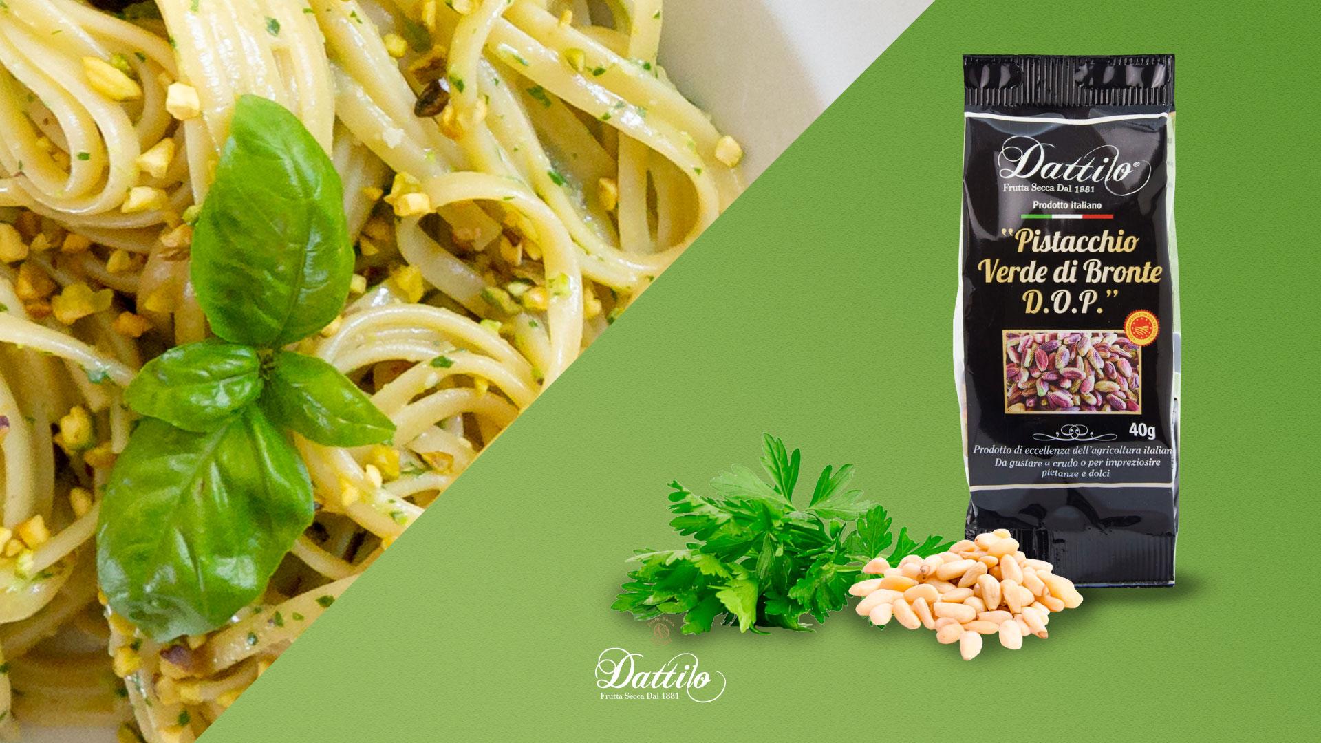 ricetta linguine al pesto con pistacchi-di-bronte-prezzemolo e pinoli italiani