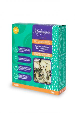 Mix condimento 150 g (semi di girasole, semi di zucca, mandorle a fettine)