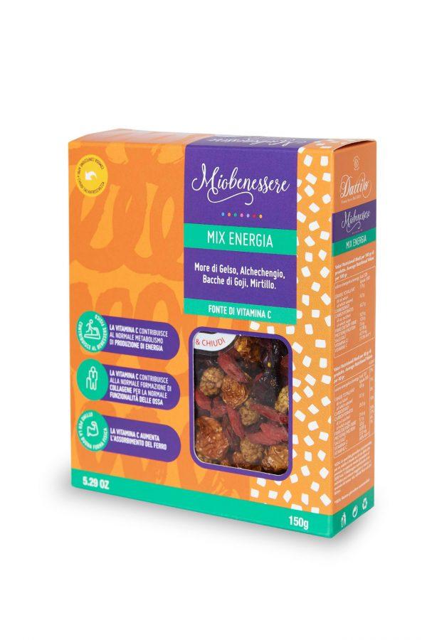Mix energia 125 g (gelsi, albicocche, bacche di goji, mirtilli)