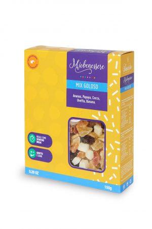 Mix goloso 150 g (cocco, ananas, papaya, banana)