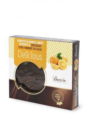 Scorzette di Arancia candite ricoperte al cioccolato