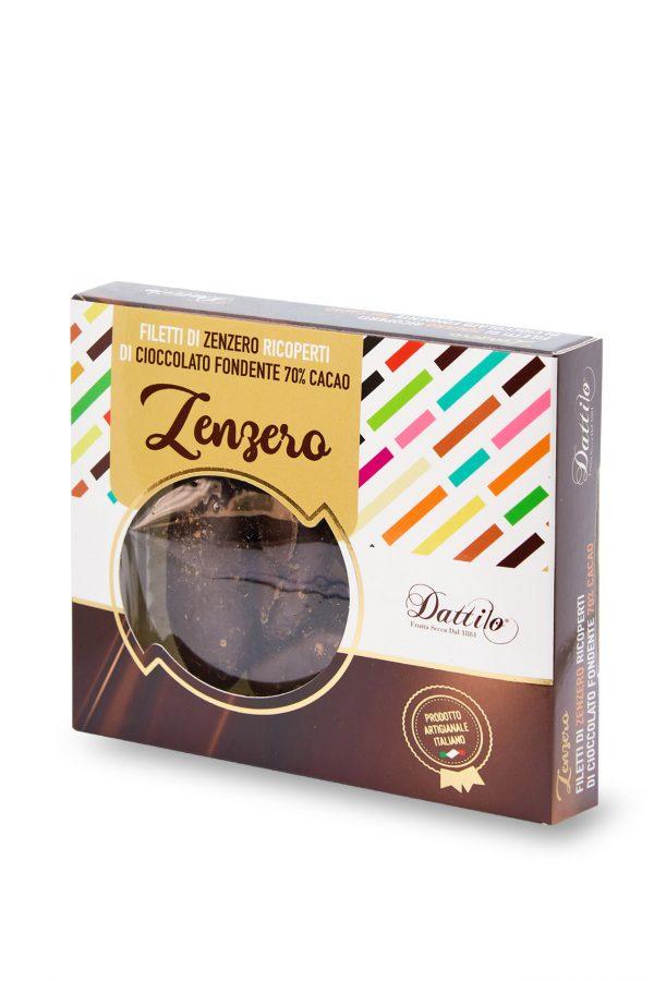 Zenzero ricoperto al cioccolato