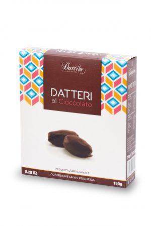 Datteri ricoperti al cioccolato fondente