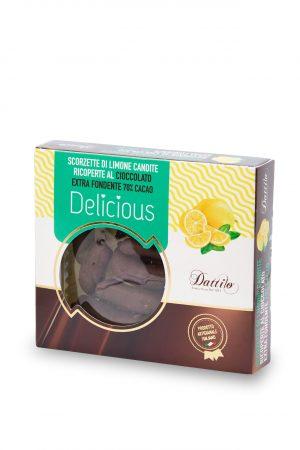 Scorzette di limone candite ricoperte al cioccolato