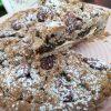 Crostata di grano saraceno con prugne e mandorle